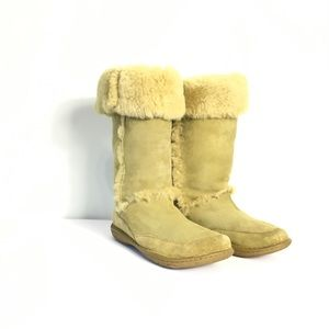 Born Shoes - Born Women's Green Leather Comfort Boots  8/39